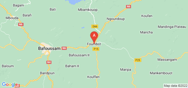 map of Foumbot, Cameroon